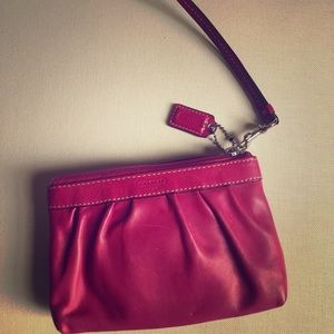 Coach wristlet with a mini wallet